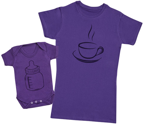 Coffee And Milk - Damen T Shirt & Strampler