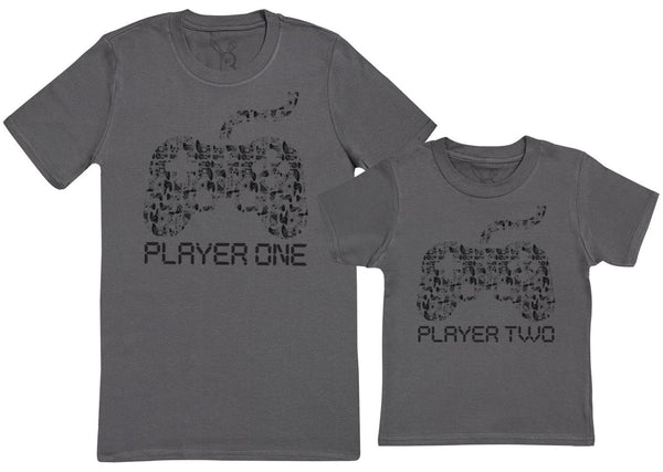 Player One & Player Two - Passende Vaterl Kind Geschenk-Set Kinder