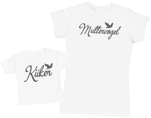 Küken /  Muttervogel - Damen T Shirt & Kind T Shirt