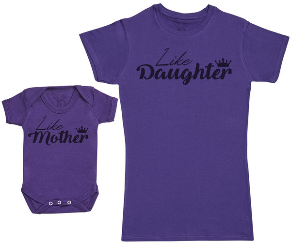 Like Daughter, Like Mother - Damen Mutter T-Shirt & Baby Strampler
