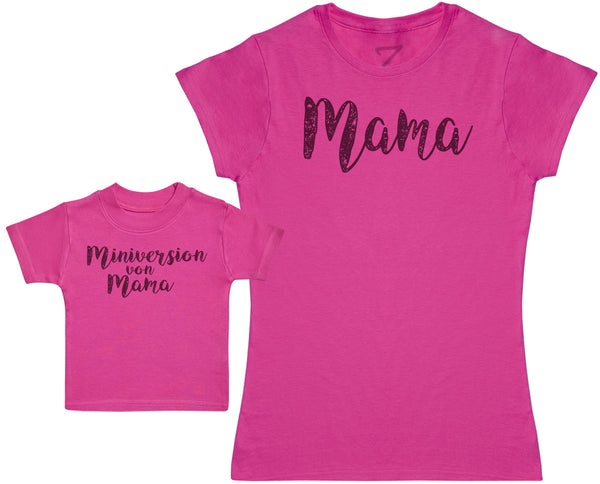 Mama & Miniversion von Mama - Damen T Shirt & Kind T Shirt