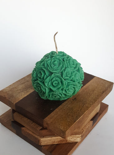 Mini Round Rose ~ Forest Green Candle, Bear & Bee Shop, Bear & Bee Shop - Bear & Bee Shop