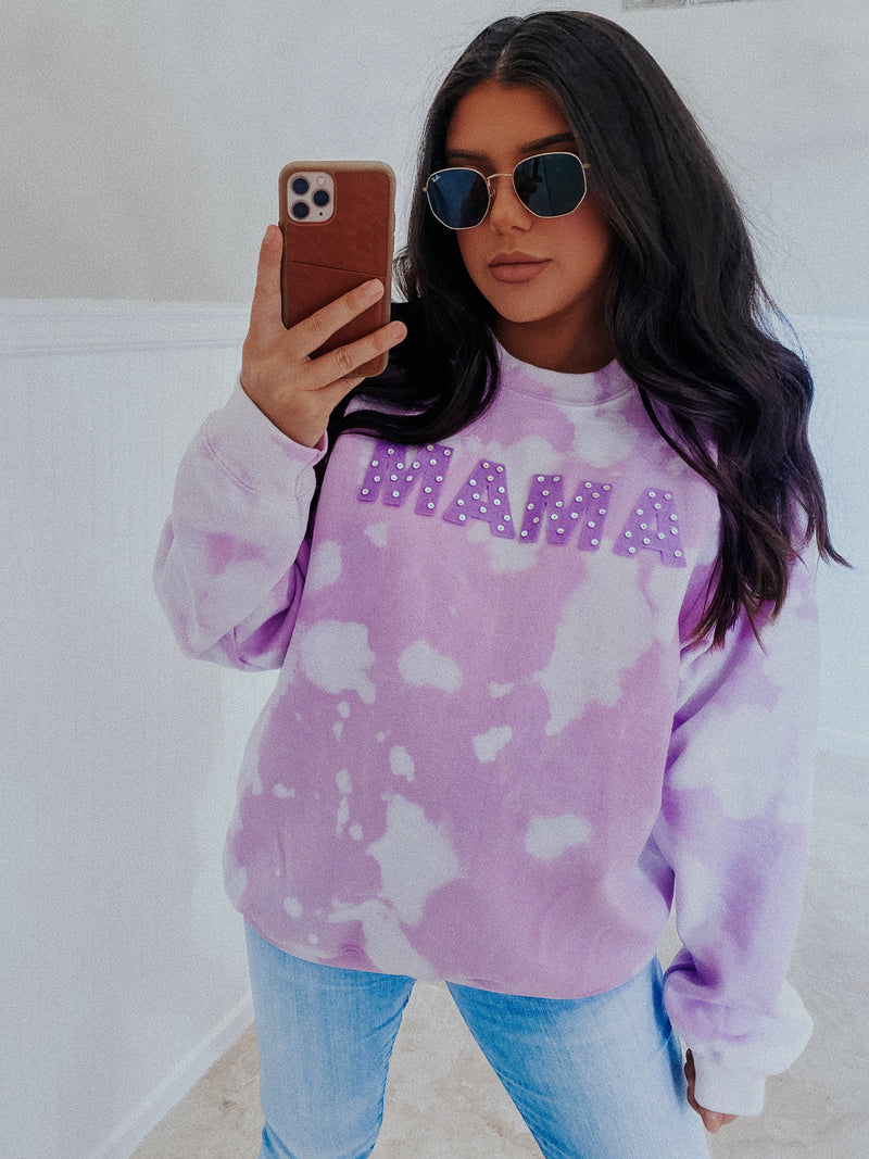 RESTOCK: MAMA Sweater: Purple