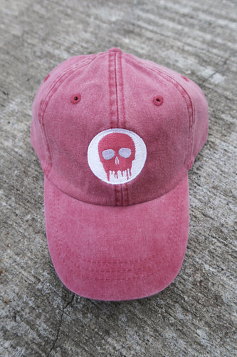 Skull House Cap: Dusty Red