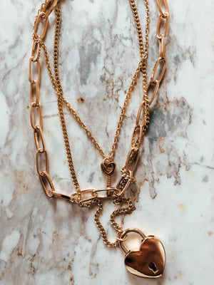 Key To My Heart Necklace: Gold