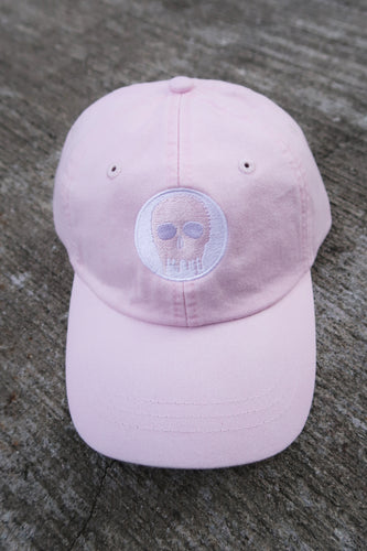 Skull House Cap: Baby Pink