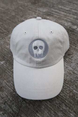Skull House Cap: Ivory/Grey