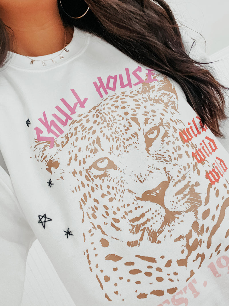 Wild Wild Wild Sweater: White
