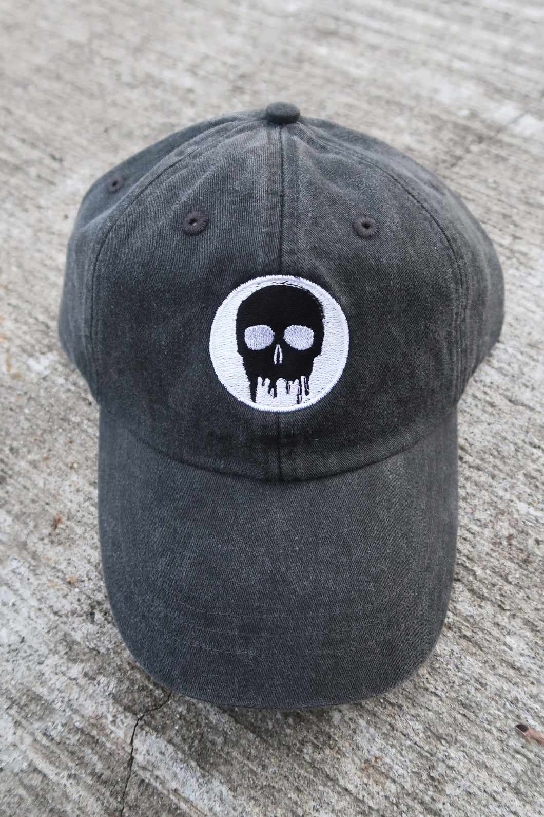 Skull House Cap: Dusty Black