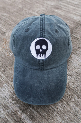 Skull House Cap: Dusty Navy
