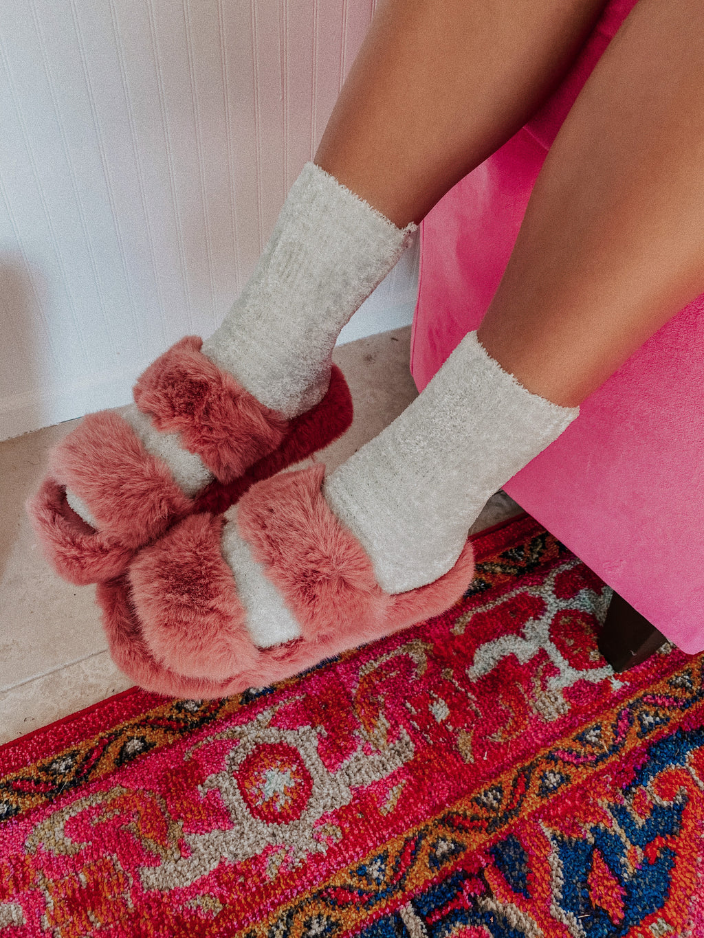 The Olivia Slippers: Pink