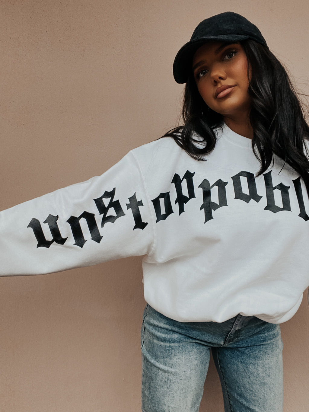 PRE-ORDER: Unstoppable Sweater: White