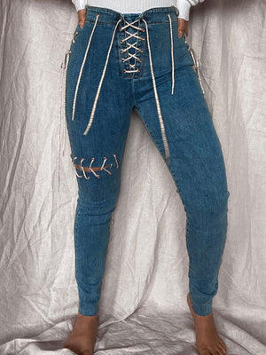 All Tied Up Jeans: Denim