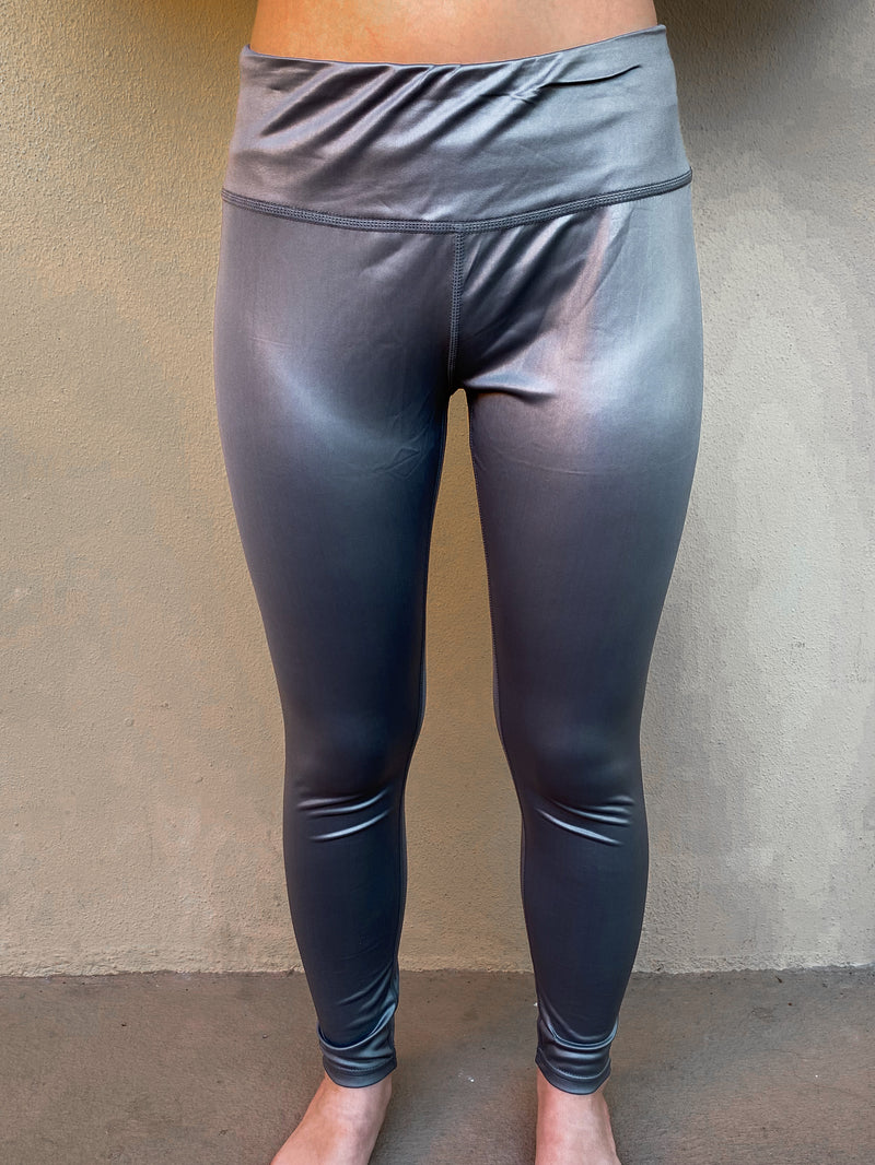 Gloss Leggings: Silver
