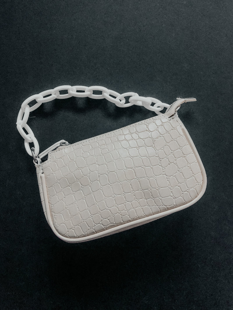 Chain Reaction Purse: White