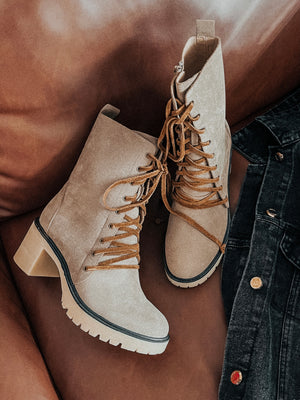 Persuade Me Boots: Taupe
