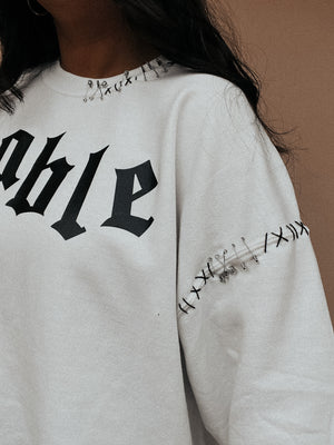 RESTOCK: Unstoppable Sweater: White