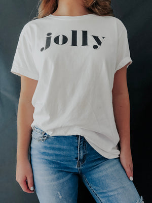 So Jolly Tee: White