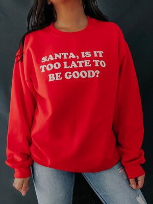 Naughty Or Nice Sweater: Red