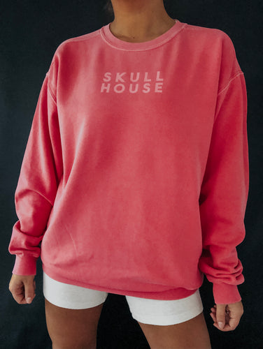 Logo Sweater: Coral