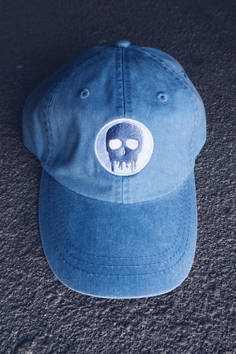 Skull House Cap: Baby Blue