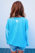 Color Me Happy Sweater: Pastel Blue