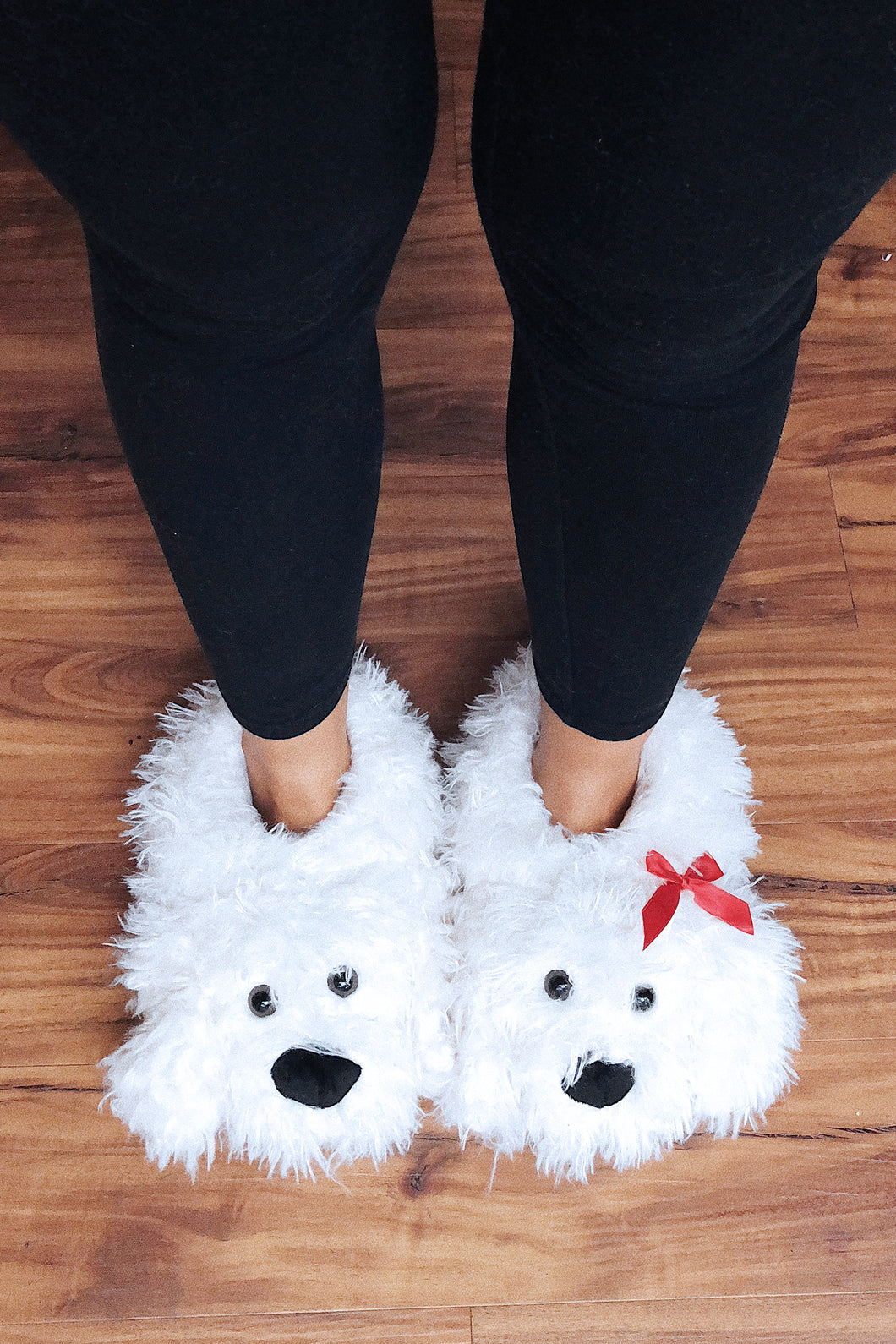 Doodle Slippers: White/Red