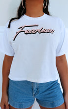 Fearless Tee: White/Pink