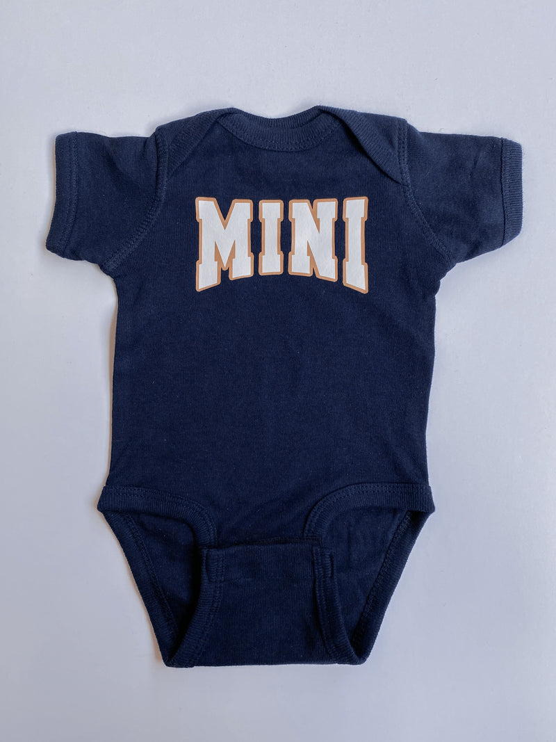 Mini Collegiate Onesie: Navy