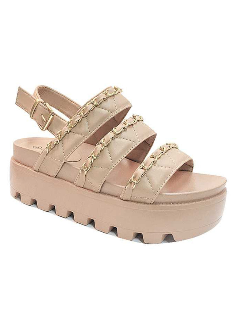 Want You Back Sandals: Nude