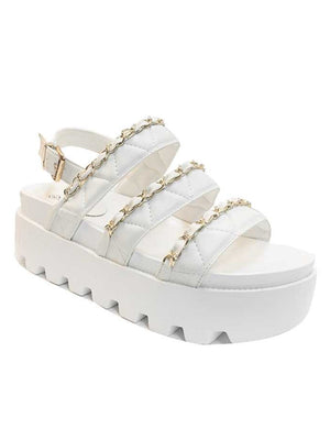 Want You Back Sandals: White
