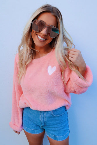 Color Me Happy Sweater: Pastel Pink