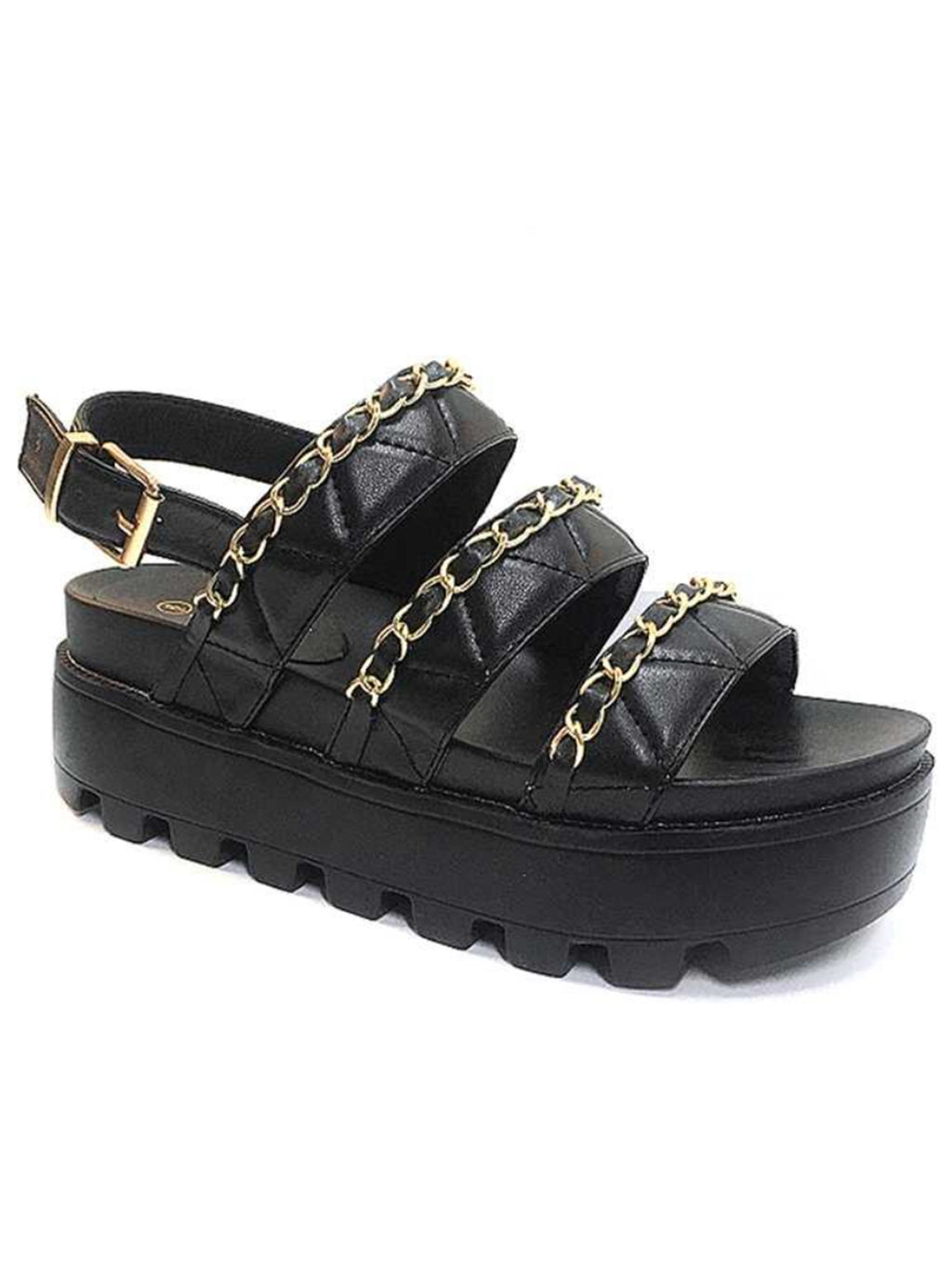 Want You Back Sandals: Black