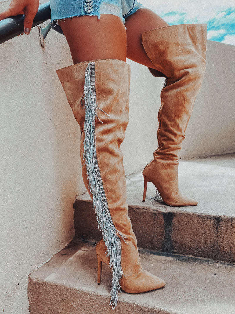 Shake It Up Boots: Nude