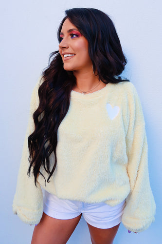 Color Me Happy Sweater: Pastel Yellow