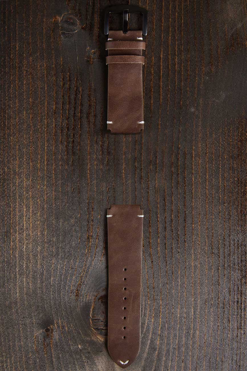 Genuine brown leather band for men
