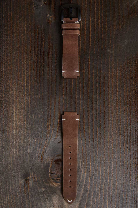 Genuine brown leather band for women