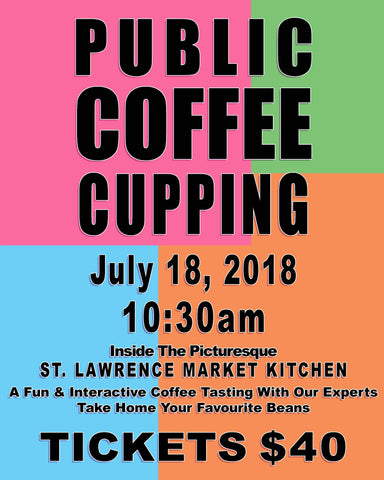 Public Coffee Cupping Class - July 18, 2018