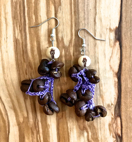 Peruvian Coffee Bean Earrings