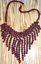 Peruvian Amazon Acai Seed Bib Necklace