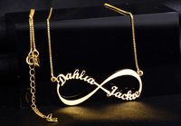 Custom Infinity Double Name Necklace