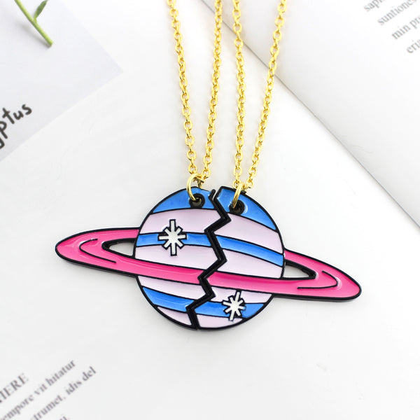 Planetary Best friends Necklace Set