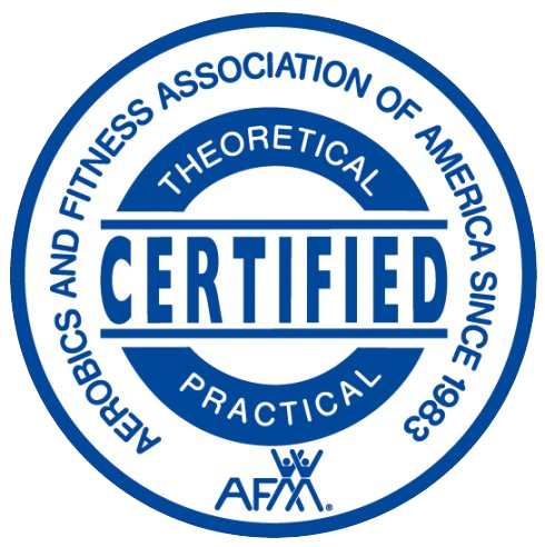 Aerobics and fitness association of America certification badge