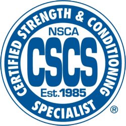 Certified strength and conditioning certification badge