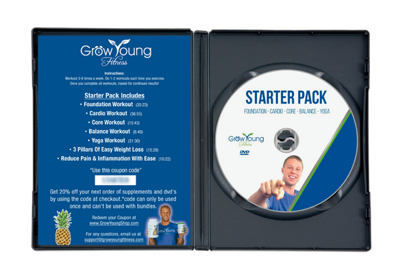 Starter Pack Exercise DVD - Grow Young Fitness Exercise DVD For Seniors