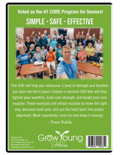 Core Starter Kit DVD - Grow Young Fitness Exercise DVD For Seniors