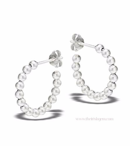 356a677d06aed Sterling Silver Ball Hoop Earrings with post back