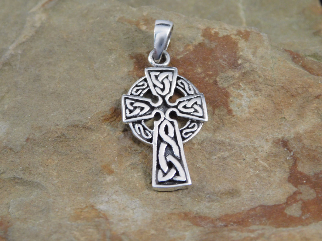 Celtic irish sun cross sterling silver necklace triquetra necklace celtic sun cross necklace aloadofball Image collections