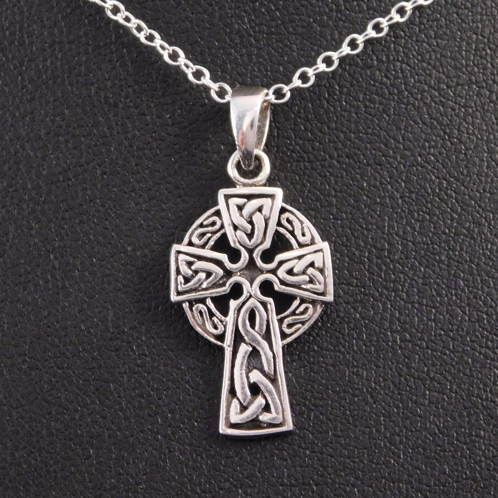 Celtic irish sun cross sterling silver necklace triquetra necklace celtic irish sun cross sterling silver necklace triquetra necklace the irish gem aloadofball Image collections