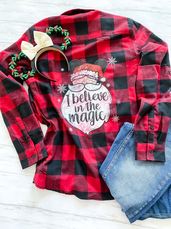 Ready to Ship I Believe Flannel - Ellie + Mae